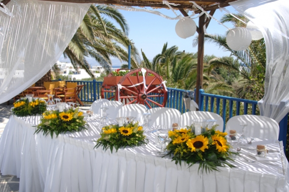 Special events hosting in Paros hotel Albatross